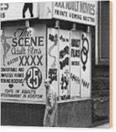 Film Homage Hard Core 1979 Porn Theater The Combat Zone Boston Massachusetts 197 Wood Print
