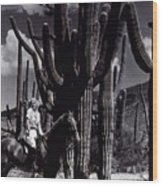Film Homage Jean Harlow Bombshell 1933 Saguaro National Monument Tucson  Arizona  Duo-tone 2008 Wood Print