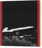 Film Noir Homage Robert Mitchum Blood On The Moon 1948 Rising Moon 2 Casa Grande Arizona 2005-2008 Wood Print