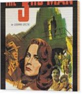 Film Noir Poster  The Third Man Wood Print