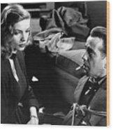 Film Noir Publicity Photo #2 Bogart And Bacall The Big Sleep 1945-46 Wood Print