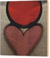 Filter Heart 2 Wood Print