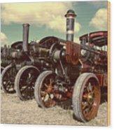 Filtered Steam  Wood Print