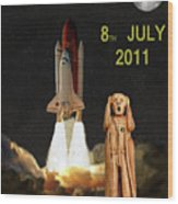 Final Shuttle Mission 8th July 2011 Wood Print by Eric Kempson