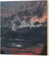 Final Sunset Fling Wood Print