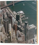 Financial District Nyc Aerial Photo Wood Print