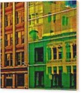 Financial District Wood Print