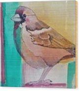 Finch Fun Wood Print