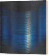 Fine Blue Thread Wood Print