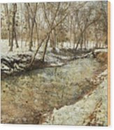 Fine Creek Winter Wood Print