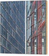 Fine Line Between Buildings Wood Print