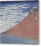 Fine Weather With South Wind Wood Print by Hokusai