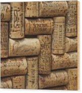 Fine Wine Wood Print