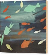 Finestra Di Pesci Wood Print