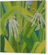 Finger Flowers Wood Print