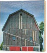 Finger Lakes Barn Iv Wood Print by Steven Ainsworth