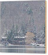 Finger Lakes Winter Panorama Wood Print