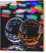 Finger Light Painted Glass Ball Abstract Wood Print