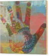 Finger Paint Wood Print