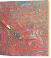 Finger Painting Wood Print