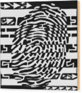 Fingerprint Scanner Maze Wood Print