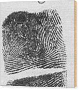 Fingerprints Of Vincenzo Peruggia, Mona Wood Print