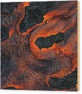 Fingers Of Lava Wood Print