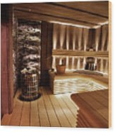 Finnish Sauna Wood Print