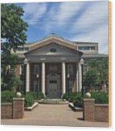 Roanoke College - Fintel Library Wood Print