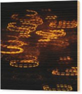 Fire Abstract  Wood Print