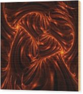 Fire Abstraction Wood Print
