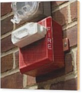 Fire Alarm Horn And Strobe Wood Print