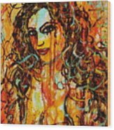 Fire And Desire Wood Print