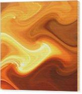 Fire And Smoke Wood Print