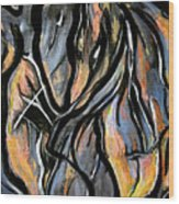 Fire And Stone Wood Print