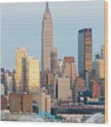 Fire Boat And Manhattan Skyline IIi  Wood Print