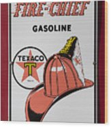Fire-chief Sign Wood Print