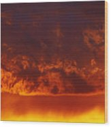 Fire Clouds Wood Print by Michal Boubin