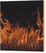 Fire Dancers Wood Print