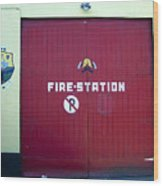 Fire Door In Macroom Ireland Wood Print
