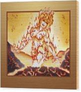 Fire Elemental Wood Print