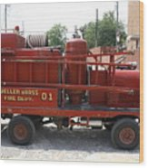 Fire Engine Of Older Years  Wood Print