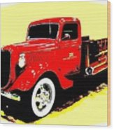 Fire Engine Ok Wood Print
