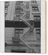 Fire Escape Wood Print