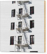 Fire Escape II Wood Print