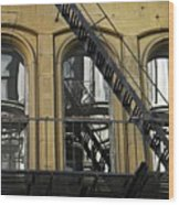 Fire Escape On Franklin Street Wood Print