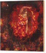 Fire Eye Wood Print