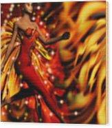 Fire Fae Wood Print