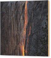 Fire Fall Wood Print
