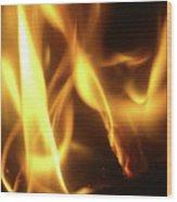 Fire  Feuer Wood Print